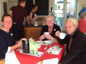 One of our customers, Lynne's Café in Llanymynech, Powys joining in with the fundraising