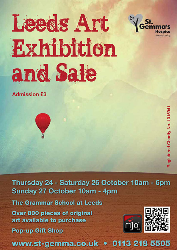 St Gemmas Art Exhibition Poster
