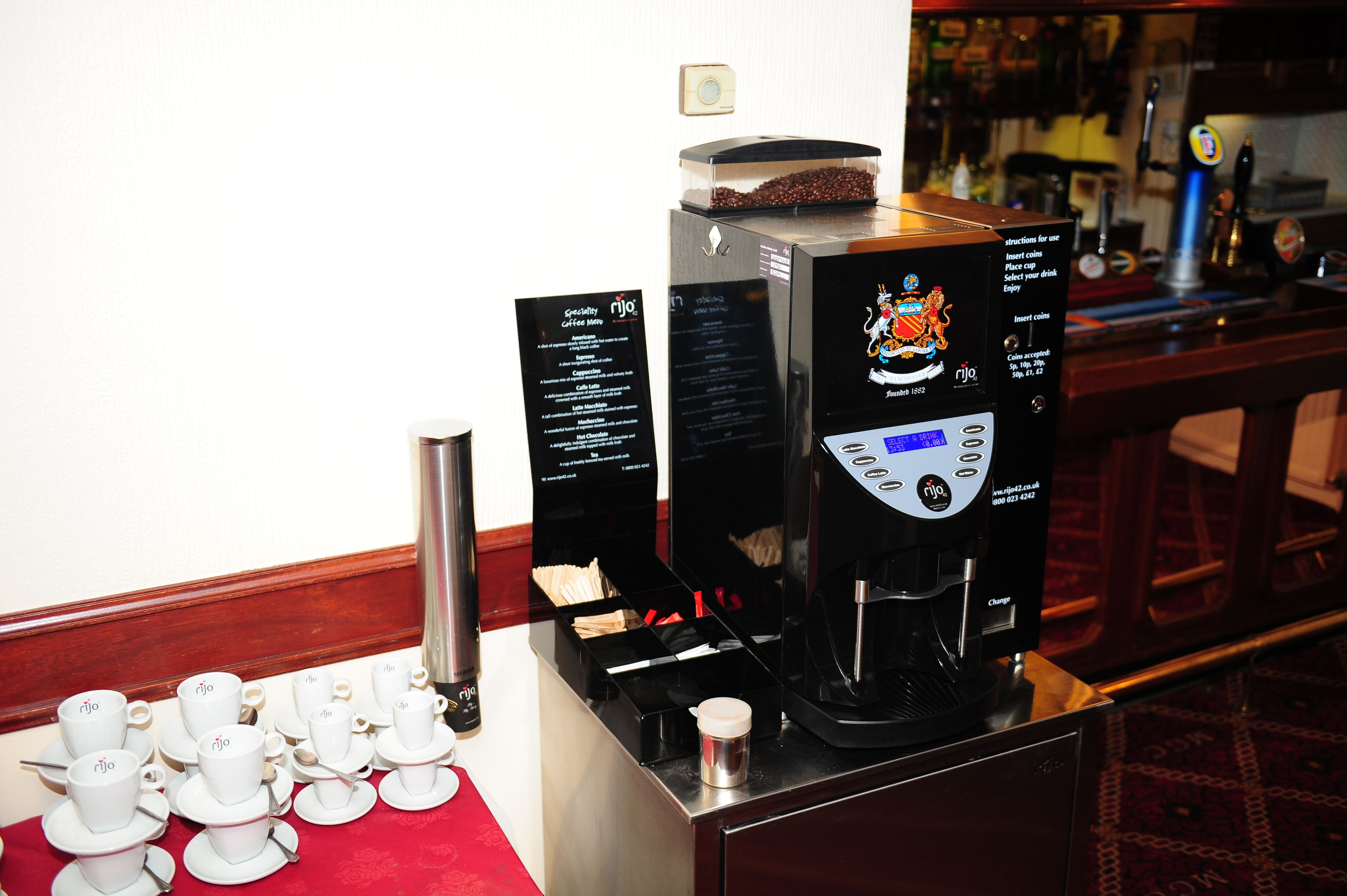 rijo42 Brasil Bean To Cup Coffee Machine At A Golf Club