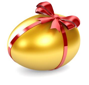 Homemade Easter Egg with Mocha Truffles