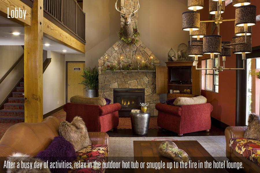 Lobby At The Breck Inn Colorado