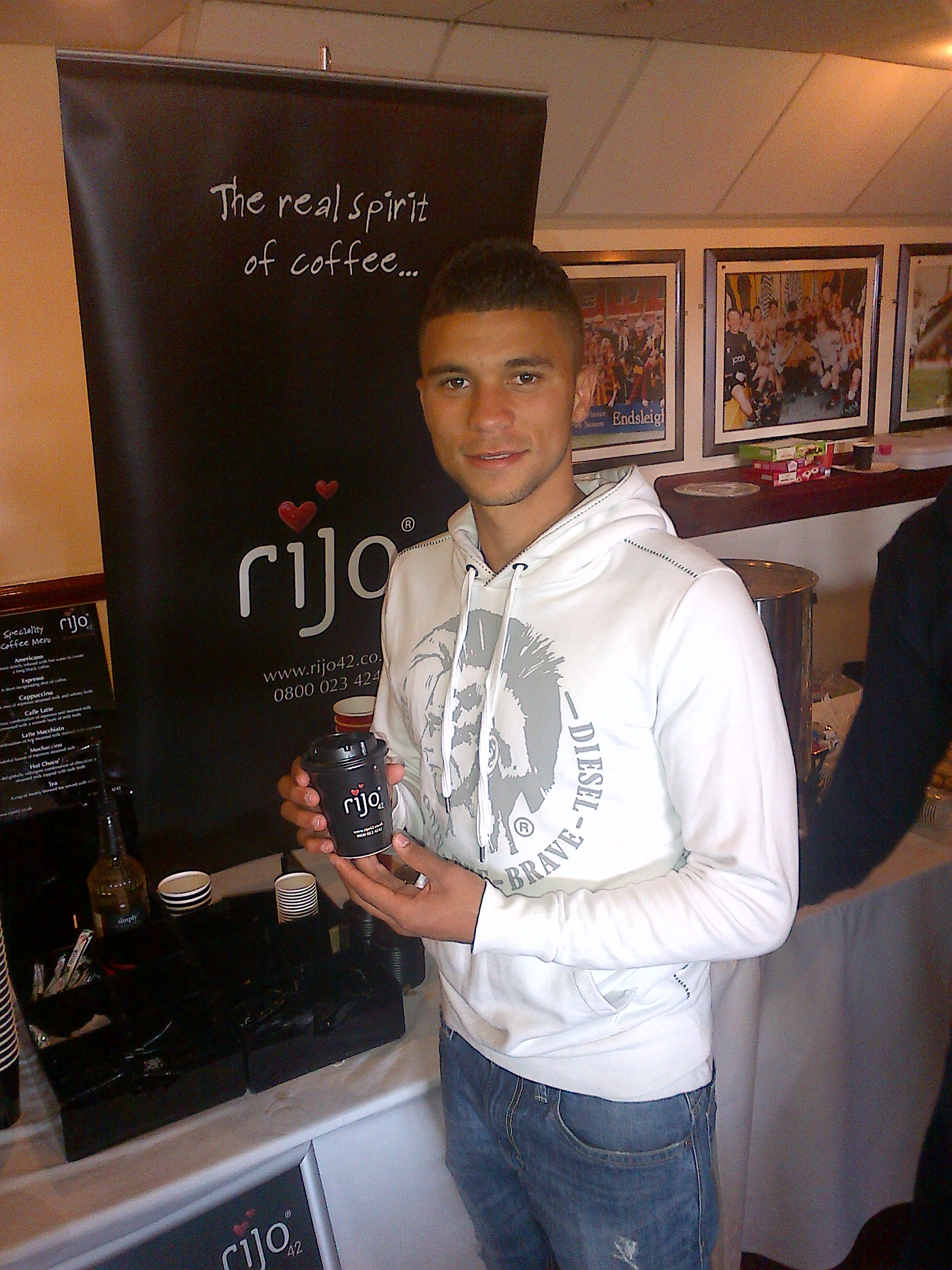 Nahki Wells With His rijo42 Coffee