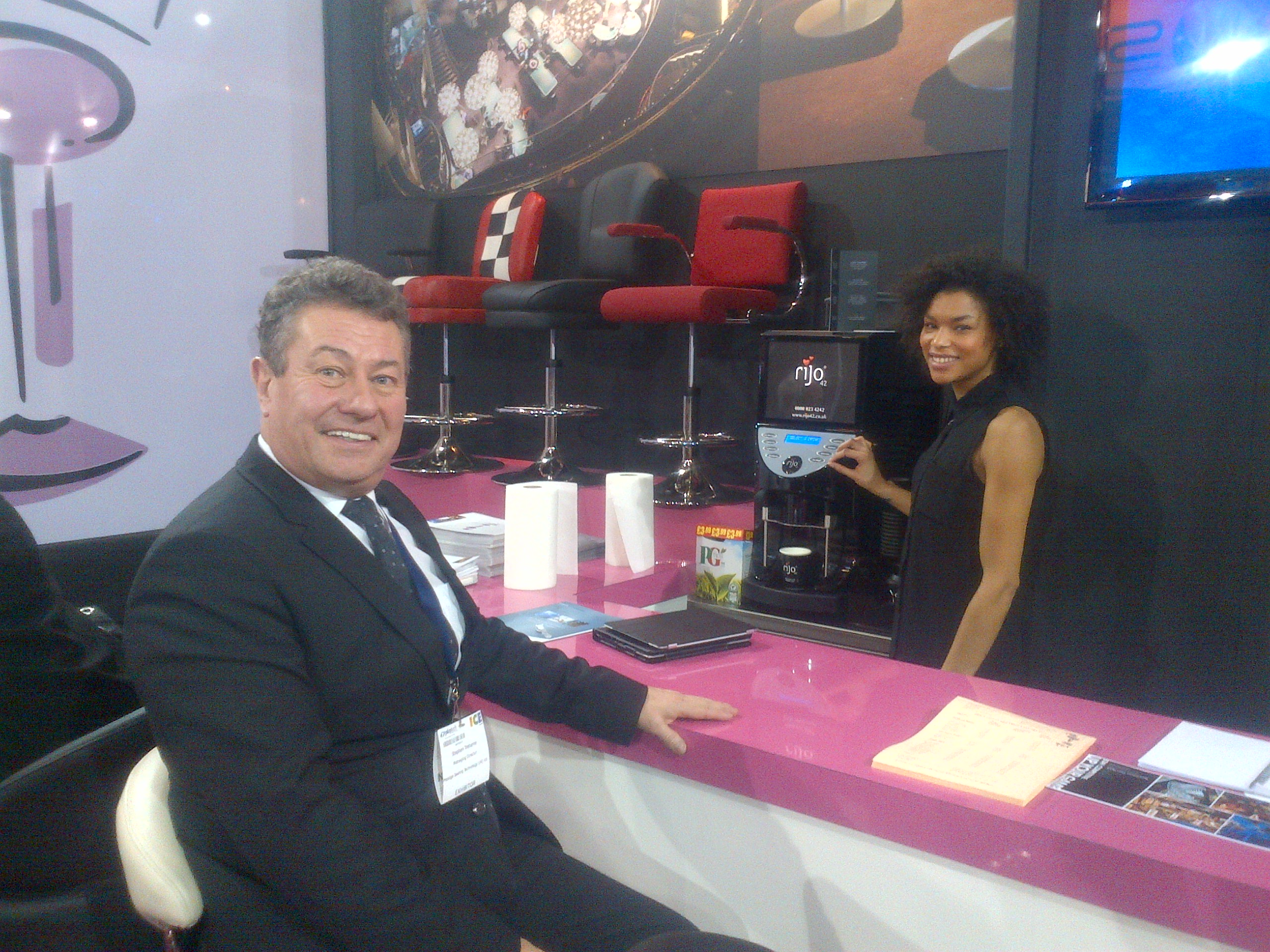 rijo42 Coffee At Prestige Seating Technology Stand