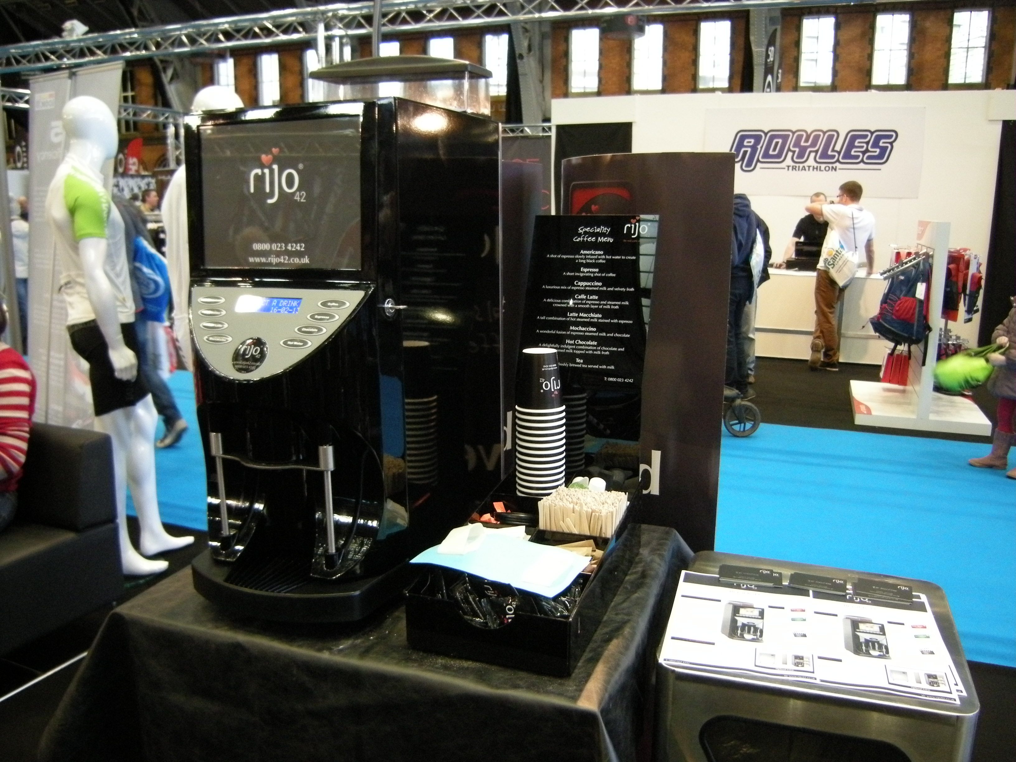Exhibition Stand Coffee : Rijo coffee at the bike and triathlon show rijo ingredients ltd