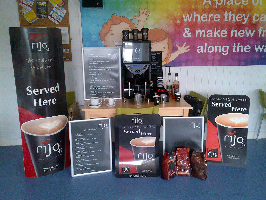 rijo42 Coffee Machine Demonstration At A Play Centre
