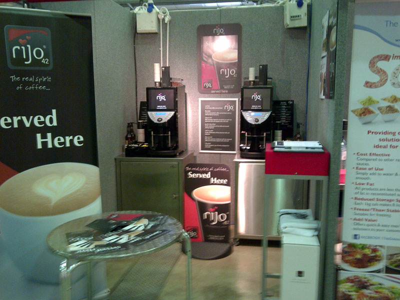 rijo42 Commercial Coffee Machines Exhibition Stand