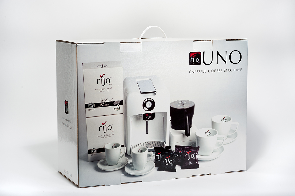 rijo42 Uno Home Coffee Machine Boxed Gift Pack