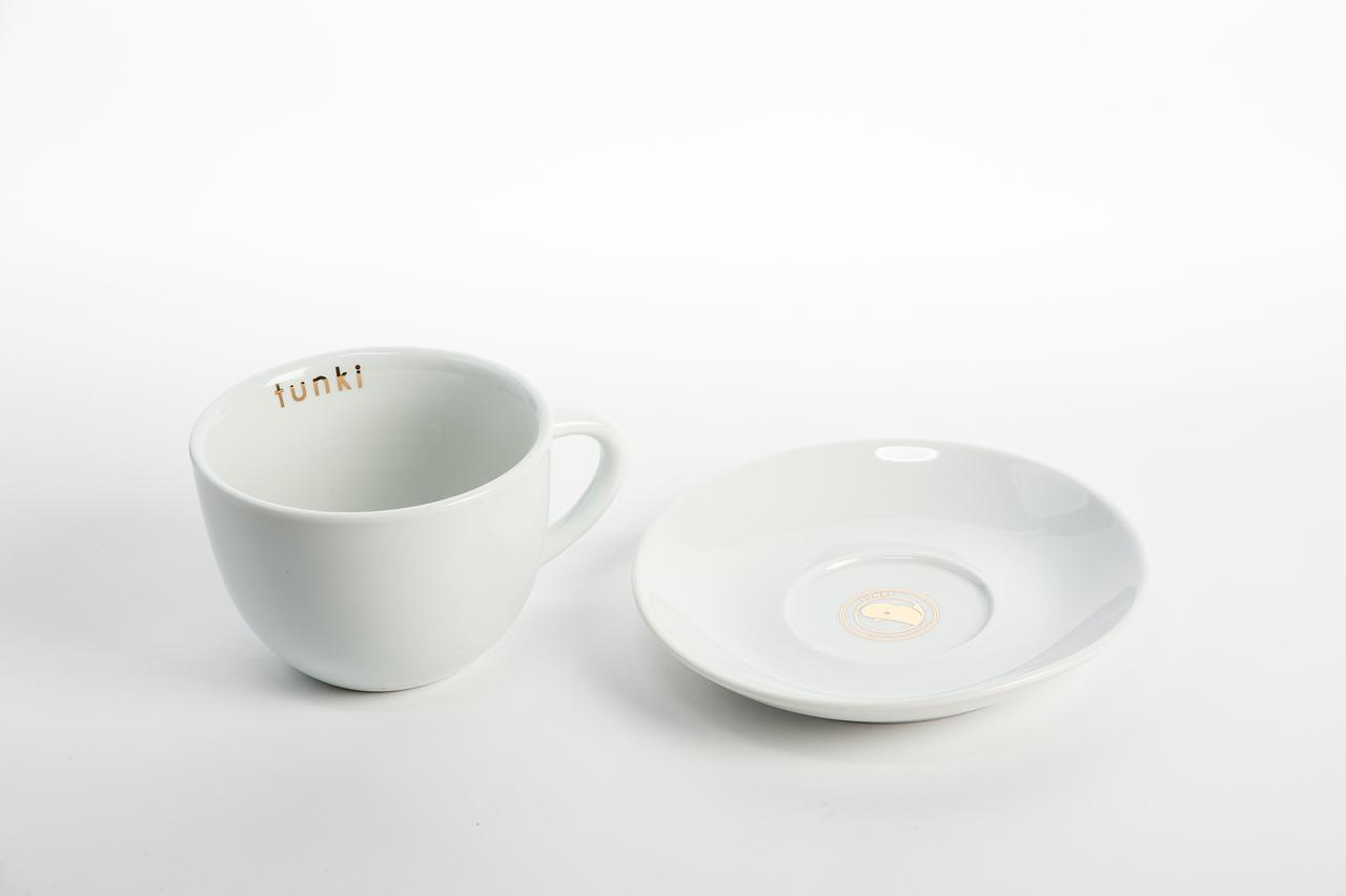 Tunki Cappuccino Cups & Saucers