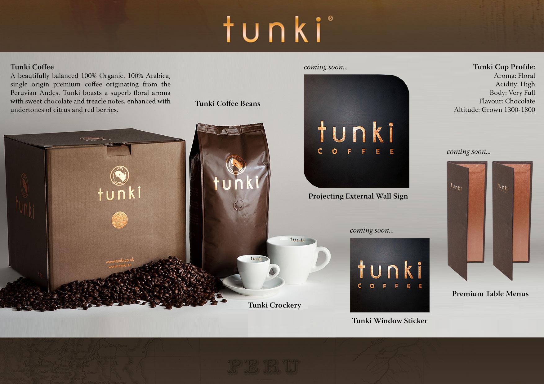 Tunki Coffee Range