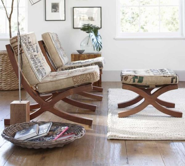 Upcycled Coffee Sack Furniture