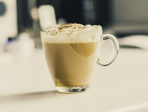 Warm up with this spiced pumpkin latte recipe, perfect for Hallowe'en.