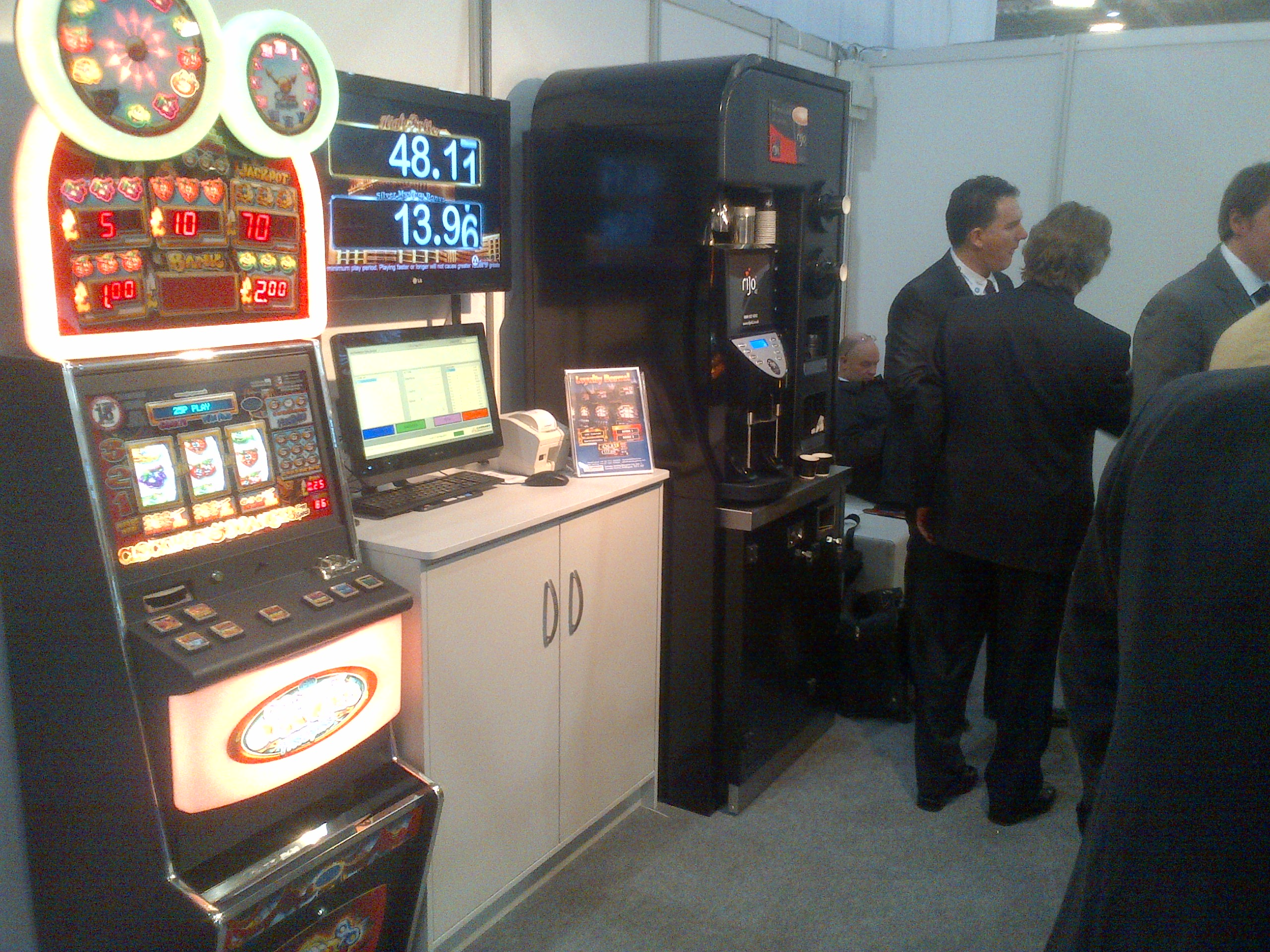 rijo42 Coffee At Carnaby Gaming Machines Stand