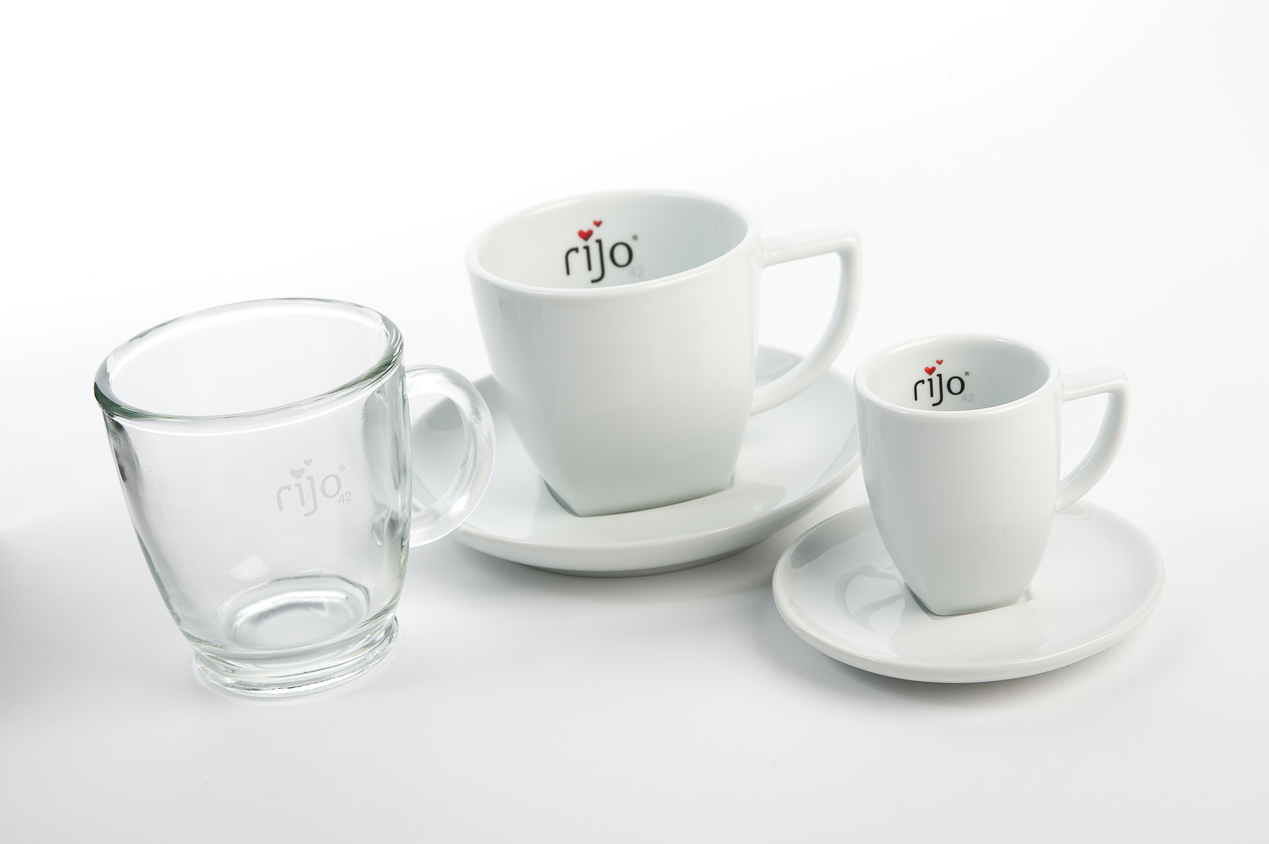 rijo42 Espresso Cups & Saucers, Cappuccino Cups & Saucers, Latte Glasses